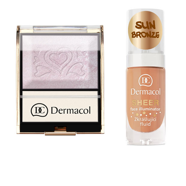 Tips  Aplicare Dermacol Sheer Face Illuminator si Illuminating palette